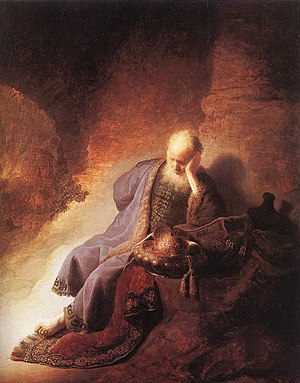 Rembrandt - Jeremiah Lamenting the Destruction...