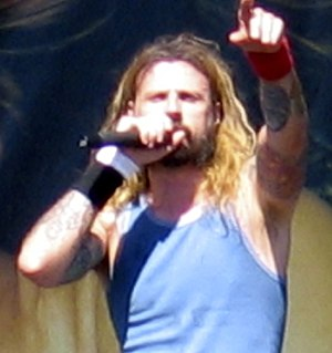 Photo of Rob Zombie at Ozzfest.
