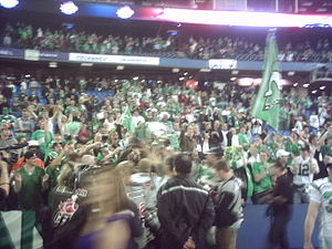 Fans of the Saskatchewan Roughriders at the 20...