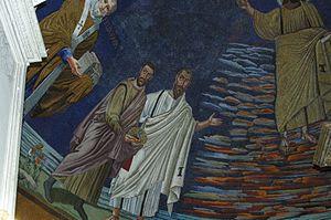 SS. Cosmas of Damian, Roma Mosaikk,detalje Ita...