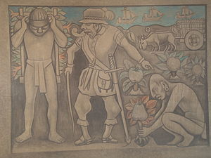 Exploitation by Diego Rivera in the Palacio Na...