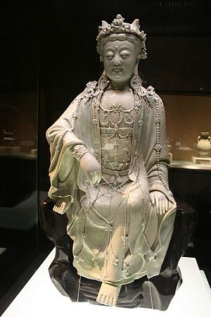 Chinese porcelain statue of the Buddha, Guan Y...