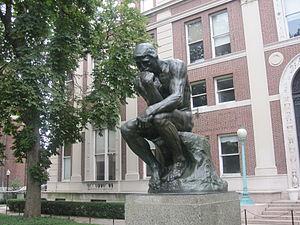 """The Thinker"" statue at Columbia Uni..."
