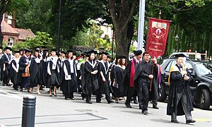 Academic procession at the University of Cante...