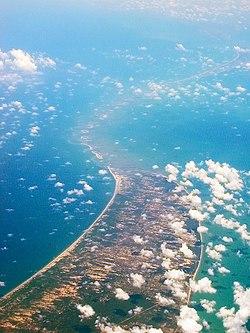 Adam's Bridge as seen from the air