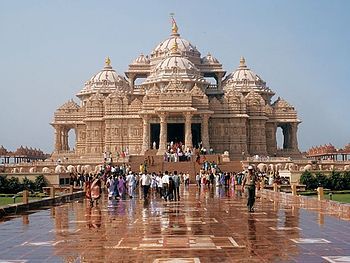 Akshardham Temple in Delhi, completed in 2005 ...