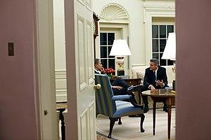 Imagen de Barack Obama y el actor George Clooney