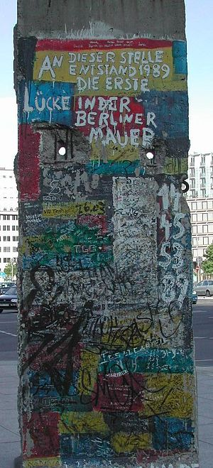 A part of the Berlin Wall