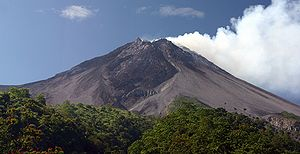 Mount Merapi, the most active volcano in Indonesia