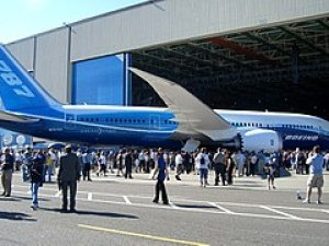 Boeing 787 at roll-out ceremony