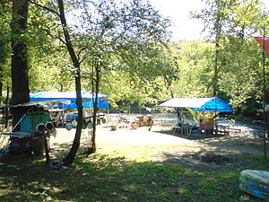 Camping area on Gradac