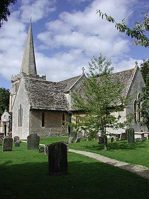 English: Down Ampney (Glos) All Saints Church.