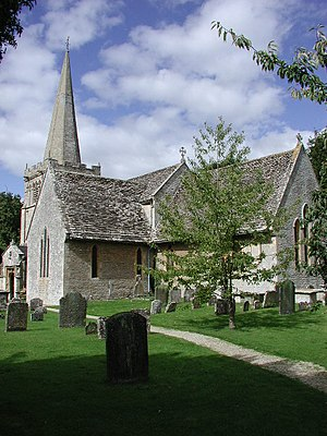 English: Down Ampney (Glos) All Saints Church.