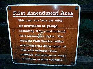 "A ""First Amendment Area"" at Muir Woo..."