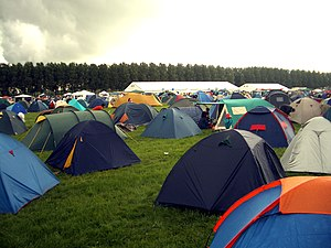 Tents at the camping site at the Lowlands fest...