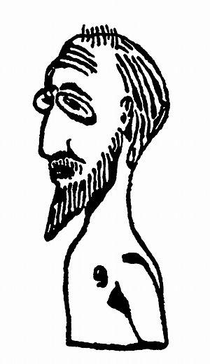 Erik Satie autoportret Projet pour Buste Tombe...