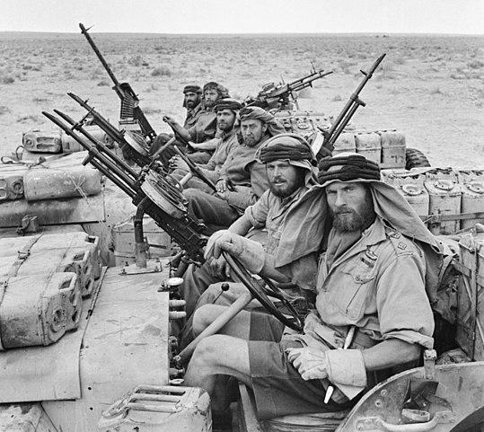 Miembros del SAS en el Norte de África