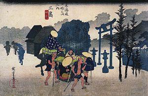 """""""Tokaido-53tugi Mishima"""",ukiyo-e by ..."""