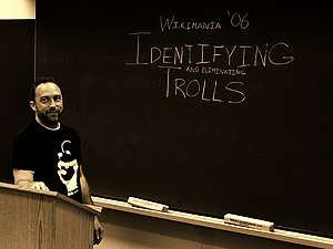 Jimbo Wales discusses trolling in a special se...