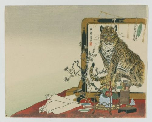 Tiger screen by Kawanabe Kyosai