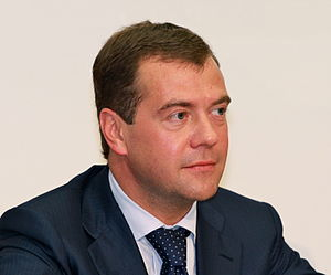 English: Dmitry Anatolyevich Medvedev, the thi...