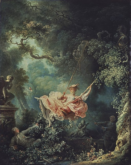 Happy accidents of the swing fragonard