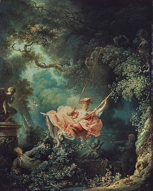 The Happy Accidents of the Swing by Jean-Honoré Fragonard