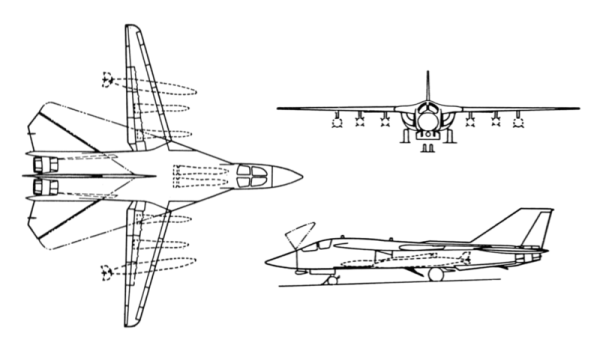 FileGerneral Dynamics F111B 3view drawingpng