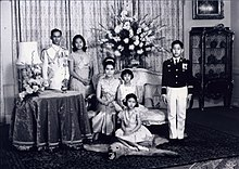 The Royal Family, 1966. Vajiralongkorn stands at far right.