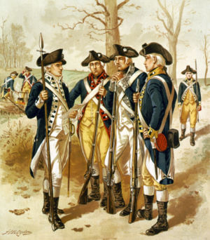Infantry of the Continental Army.