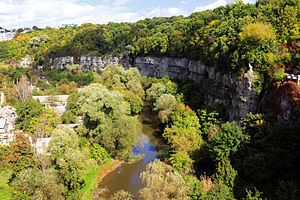 English: The canyon in the canyon of the Smotr...