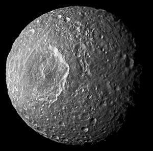 Mimas mosaic with mostly high resolution.