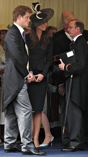 English: Prince Harry and Kate Middleton at Pr...