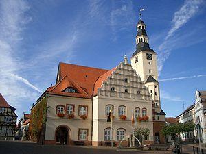 Deutsch: Rathaus und Marktplatz in Gardelegen