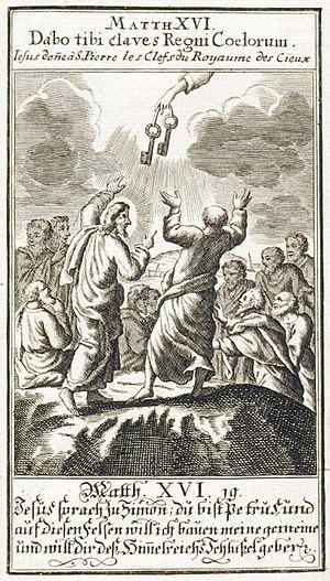 Gospel of Matthew 16.19 Français : Évangile se...