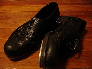 Tap dancing shoes from flickr by Maria.