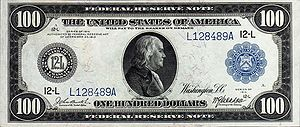 One hundred dollar bill, series 1914