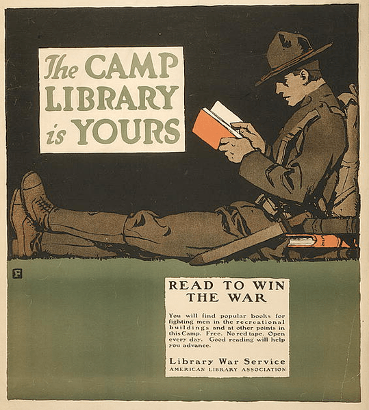 File:1917 CampLibrary byCBFalls ALA LC.png
