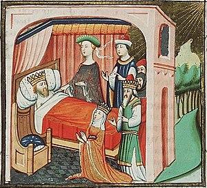 Abishag at the bed of David, with Bathsheba, S...