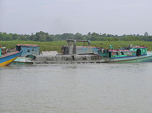 Dredging on Buriganga River Bangladesh