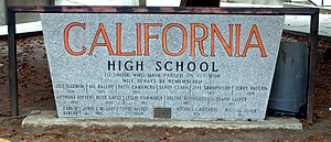 Old sign at California High School