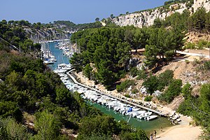 English: The Calanque de Port-Miou, Cassis, Fr...