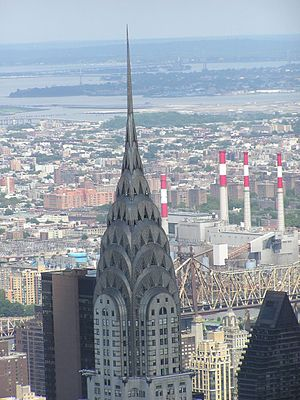 Chrysler Building top in New York City, photog...