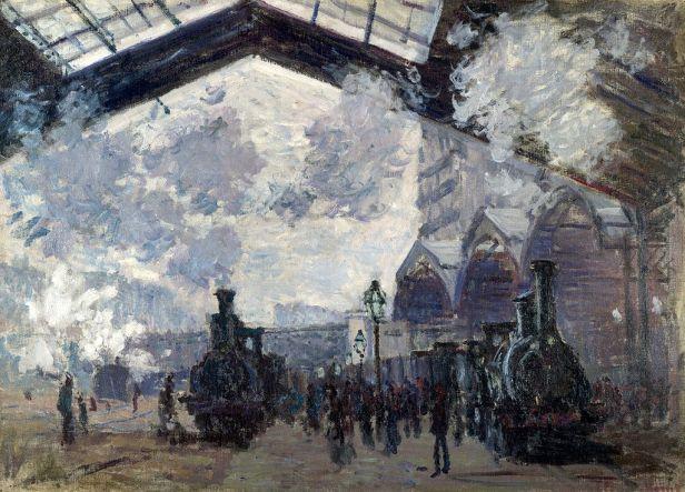 Claude Monet, The Gare St-Lazare, 1877