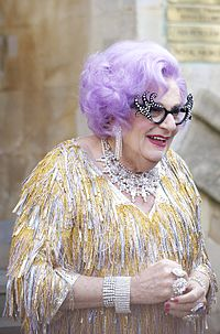 Dame Edna at the royal wedding cropped.jpg