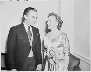 Photograph of Margaret Truman with Howard Mitc...