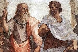 Italiano: Platone ed Aristotele, dettaglio del...