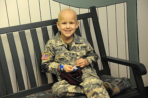 US Army 51295 Soldiers show support for six-year-old boy with cancer