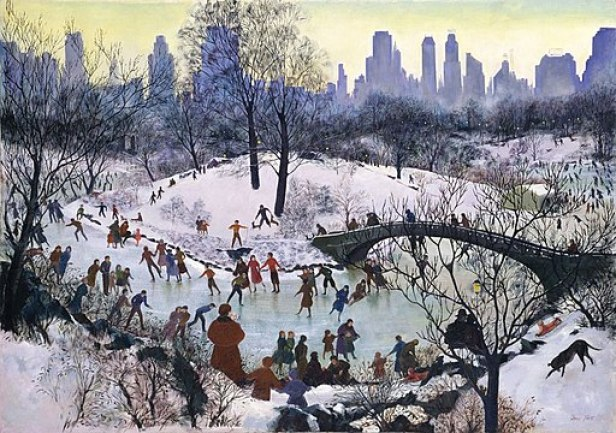 Agnes Tait, Skating in Central Park, 1934, Smithsonian American Art Museum
