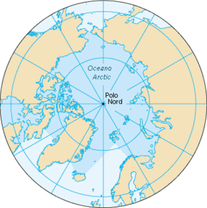 Map of the Arctic Ocean. Based on Image:Arctic...